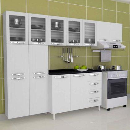 Armário de cozinha de parede de aço inox