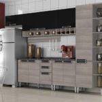 Armário de cozinha parede de madeira