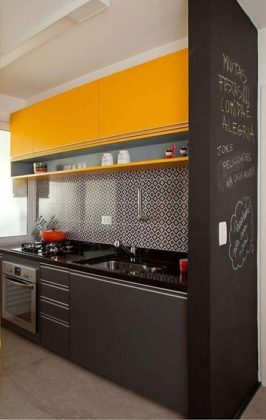 Armários de cozinha planejados e compactos