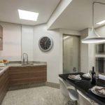 Cozinha com piso de granito