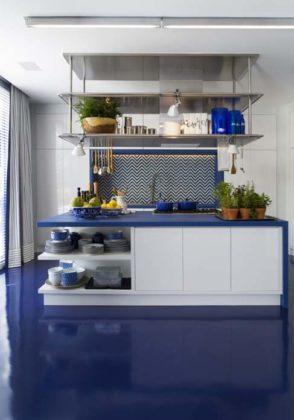 Cozinha com piso epóxi