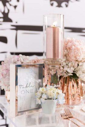 Decoração Rose Gold em casamento