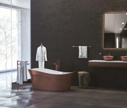 Decoração Rose Gold para banheiro