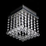 Lustre de cristal quadrado
