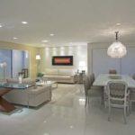 Salas com piso de porcelanato