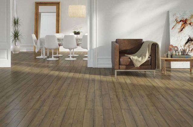 Salas com piso laminado