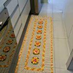 Tapete de crochê para cozinha