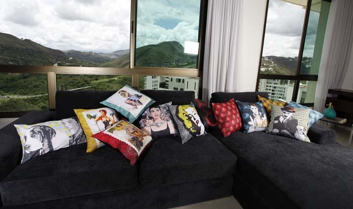 decoração com almofadas personalizadas
