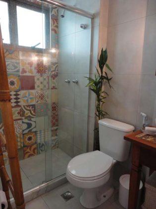Decoração de banheiro Com ladrilho hidráulico