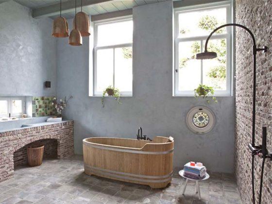Decoração de banheiro Rústico e chique