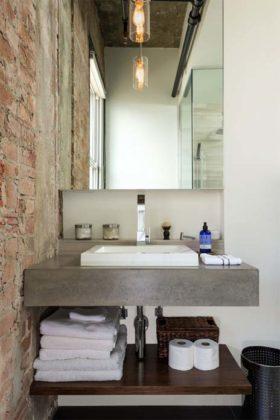 Decoração de banheiro barata e rústico