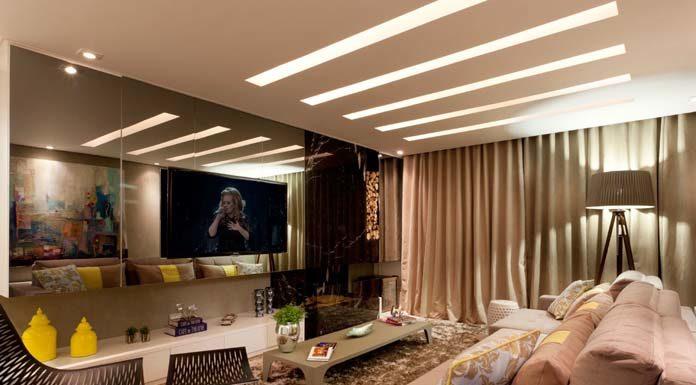 Decoração de sala de TV