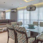 Decoração de sala de jantar moderna