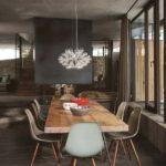 Decoração de sala de jantar rústica