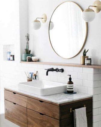Espelho para banheiro redondo