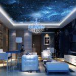 Papel de parede no teto da sala