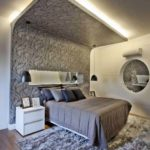 Papel de parede no teto do quarto de casal