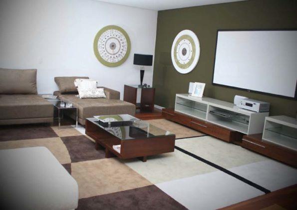 decoraçao Sala de TV grande