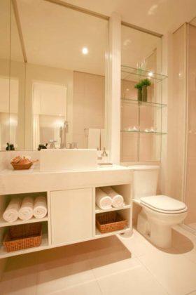espelho para banheiro com prateleira