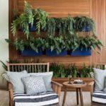Decoração com plantas na parede