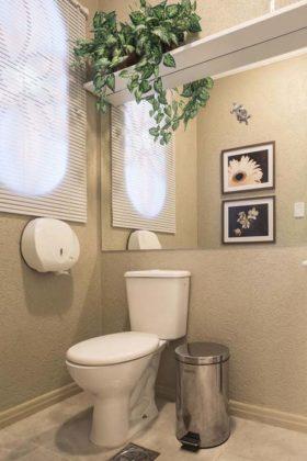Decoração com plantas para banheiro