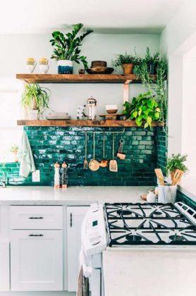 Decoração com plantas para cozinha