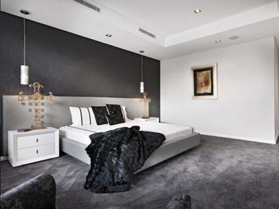 Decoração contemporânea para quarto