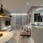 decoração de sala e cozinha americana