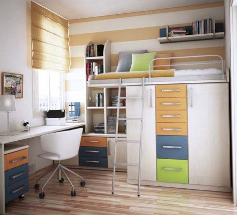 Decoração de quarto pequeno de solteiro