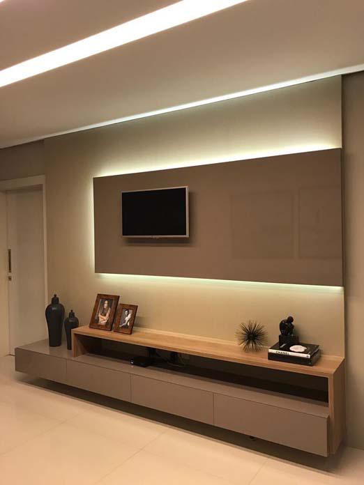 Painel de TV Dicas e inspirações para sala, planejado e muito mais! -> Decoração Para Sala De Tv Com Painel