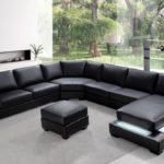 sofá de canto preto