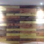 Decoração de paletes nas paredes