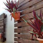 Decoração com paletes para jardim