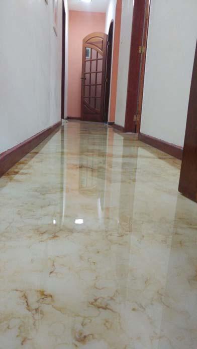 Efeito mármore no piso
