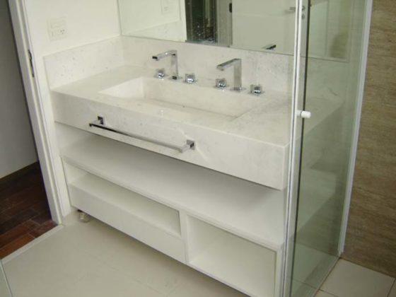 Mármore branco para banheiro