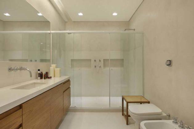 Rebaixamento de gesso em banheiro