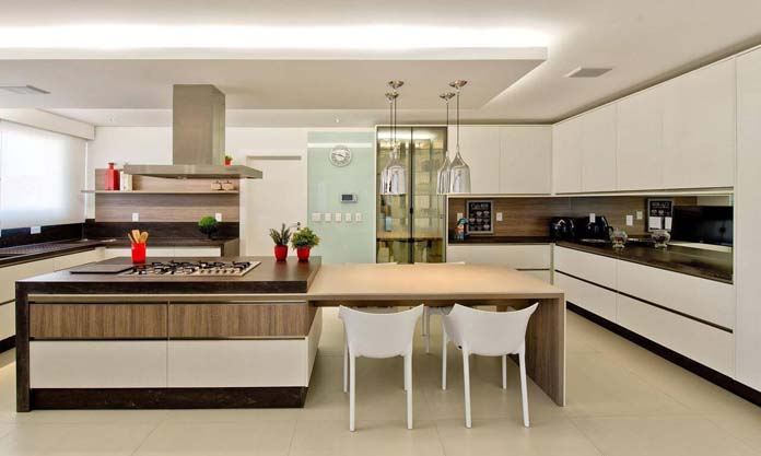 Rebaixamento de gesso em cozinha