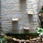 Jardim de inverno com cascata