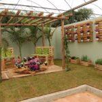 Jardim de inverno com paletes