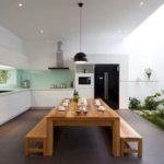 Jardim de inverno na cozinha