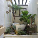 Jardim de inverno no banheiro