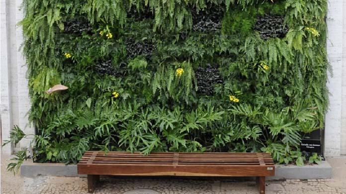 Jardim vertical - Plantas artificiais, suculentas