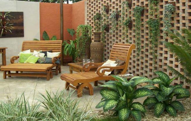 Jardim vertical externo