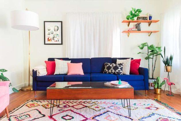 Sala moderna colorida
