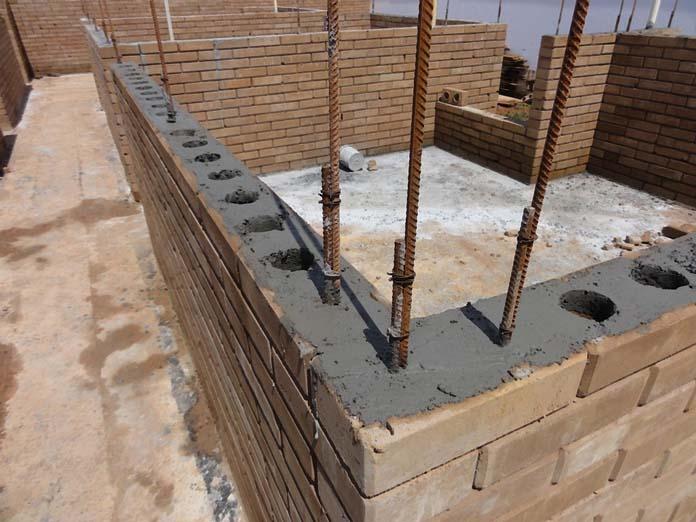 Construção usando Tijolo ecológico