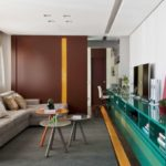 cor da casa com os móveis