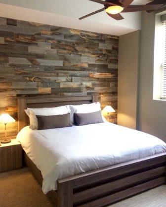 Decoração de parede com paletes