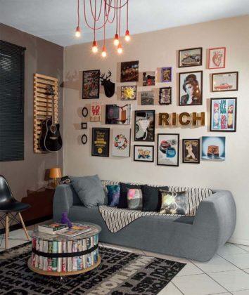 Decoração de parede de sala
