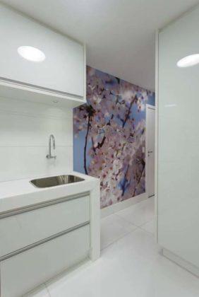 adesivo ou papel de parede para lavanderia