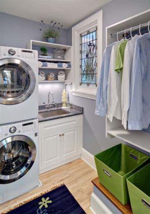 decoração de lavanderia grande